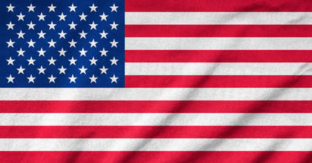 Ruffled US Flag Stock Photo - 22831882