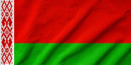 rumple: Ruffled Belarus Flag Stock Photo