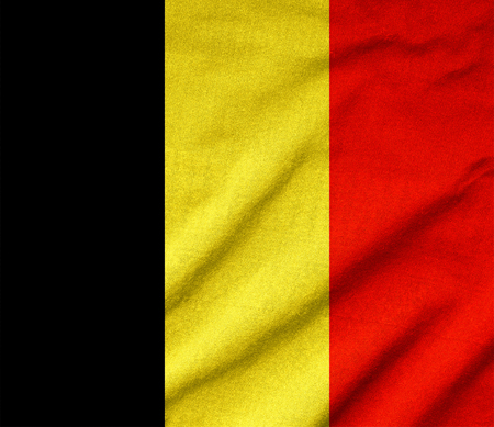 Ruffled Belgium Flag Stock Photo - 22831890