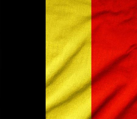 Ruffled Belgium Flag Stock Photo - 22831890