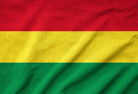 Ruffled Bolivia Flag photo