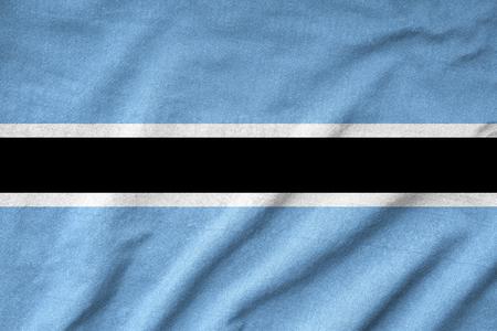 botswana: Ruffled Botswana Flag Stock Photo