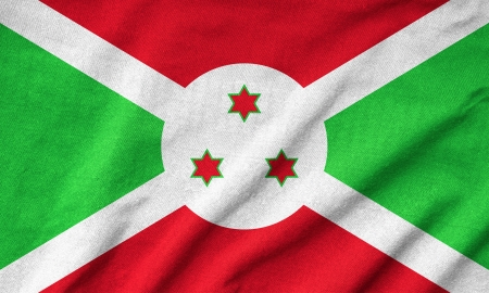 Ruffled Burundi Flag Stock Photo - 22831931
