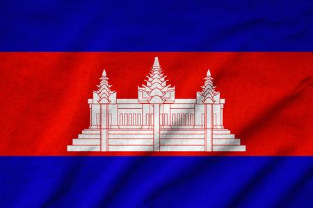 Ruffled Cambodia Flag Stock Photo - 22831932