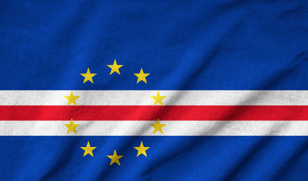 Ruffled Cape Verde Flag Stock Photo - 22831933