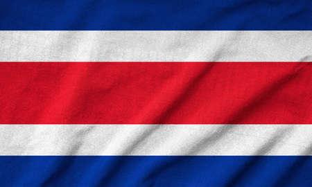 Ruffled Costa Rica Flag photo