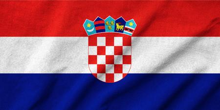 Ruffled Croatia Flag Stock Photo - 22831960