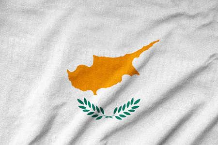 Ruffled Cyprus Flag photo