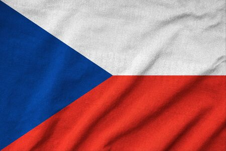 Ruffled Czech Republic Flag photo