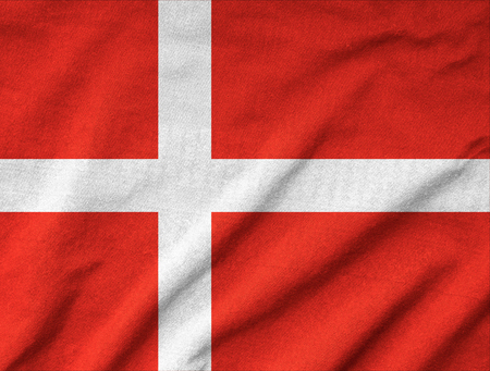 Ruffled Denmark Flag Stock Photo - 22831964