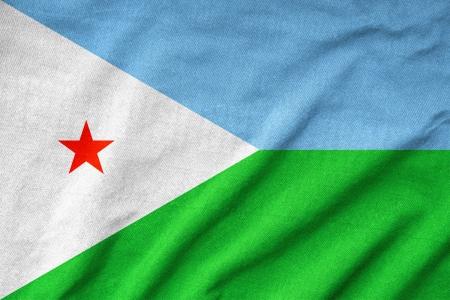 djibouti: Ruffled Djibouti Flag