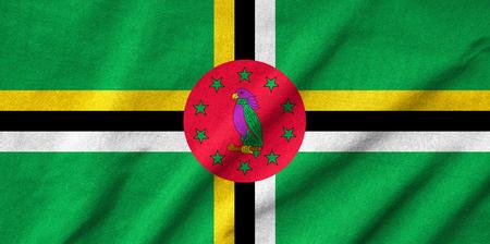 Ruffled Dominica Flag Stock Photo - 22832140