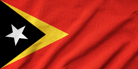 Ruffled East Timor Flag photo