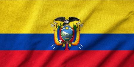 Ruffled Ecuador Flag Stock Photo - 22832144
