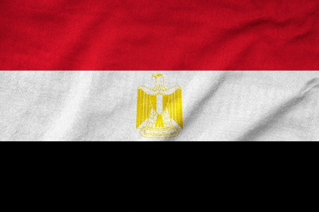 Ruffled Egypt Flag Stock Photo - 22832145