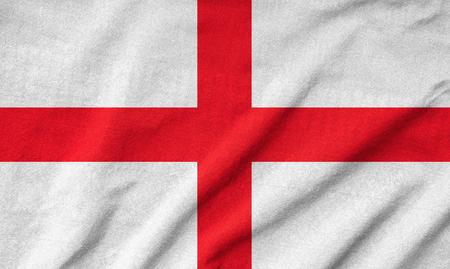 Ruffled England Flag Stock Photo - 22833175