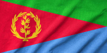 Ruffled Eritrea Flag Stock Photo - 22833195