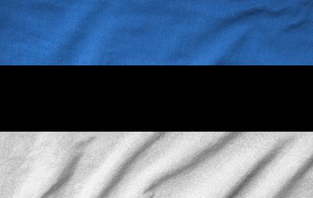 Ruffled Estonia Flag photo