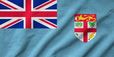 fiji: Ruffled Fiji Flag