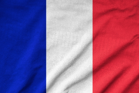 Ruffled France Flag photo