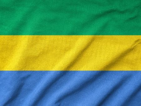 Ruffled Gabon Flag photo