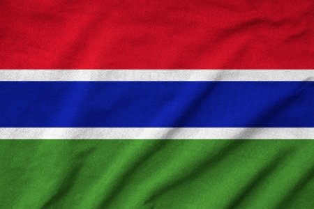 Ruffled Gambia Flag photo