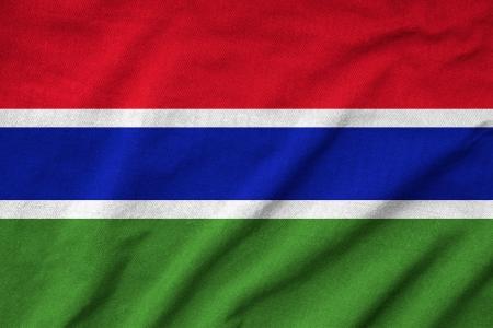 Ruffled Gambia Flag Stock Photo - 22833204
