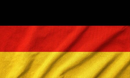 Ruffled Germany Flag photo