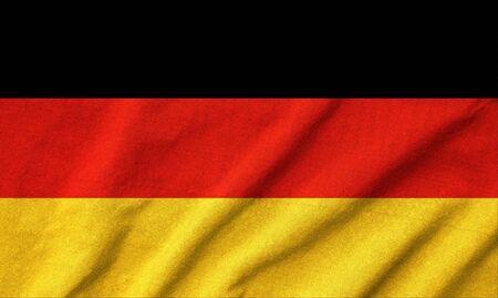 Ruffled Germany Flag Stock Photo - 22833206
