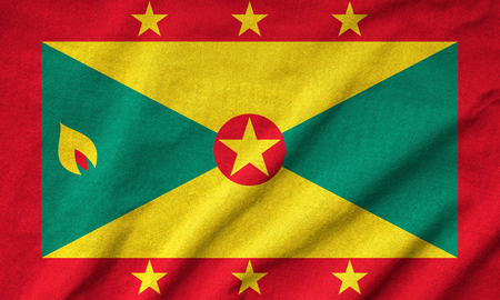 Ruffled Grenada Flag Stock Photo - 22833209