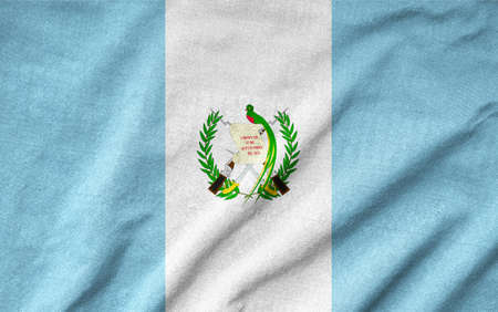 Ruffled Guatemala Flag photo