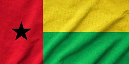 Ruffled Guinea-Bissau Flag Stock Photo - 22833211