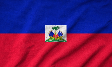 Ruffled Haiti Flag photo