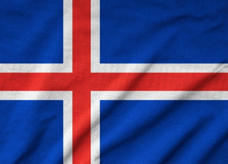 Ruffled Iceland Flag Stock Photo - 22833099