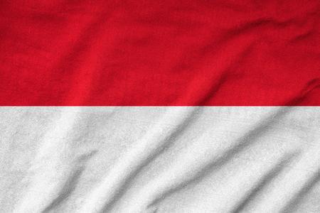 Ruffled Indonesia Flag Stock Photo - 22833101