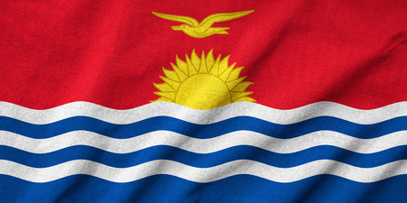 Ruffled Kiribati Flag Stock Photo - 22833108