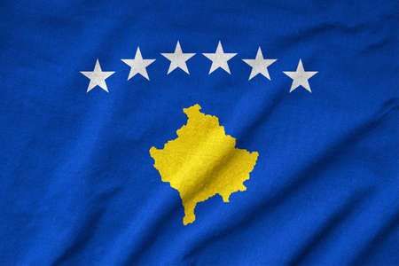 Ruffled Kosovo Flag Stock Photo - 22833113
