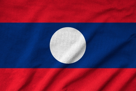 Ruffled Laos Flag photo