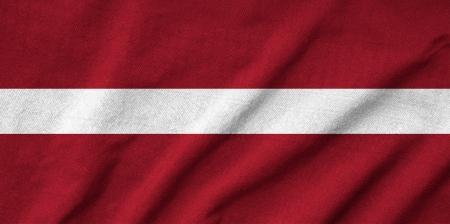 Ruffled Latvia Flag Stock Photo - 22833134