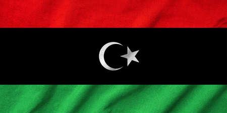 Ruffled Libya  Flag Stock Photo - 22832536