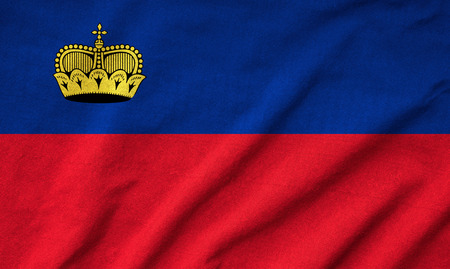Ruffled Liechtenstein Flag photo