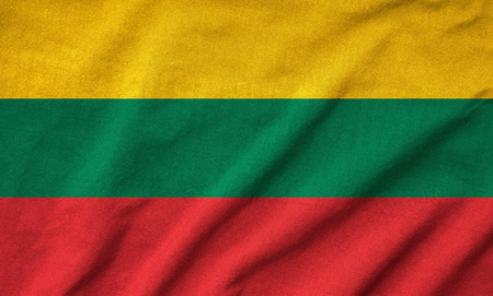 Ruffled Lithuania Flag photo