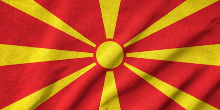 Ruffled Macedonia Flag photo
