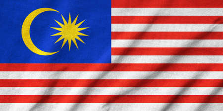 Ruffled Malaysia Flag Stock Photo - 22832545