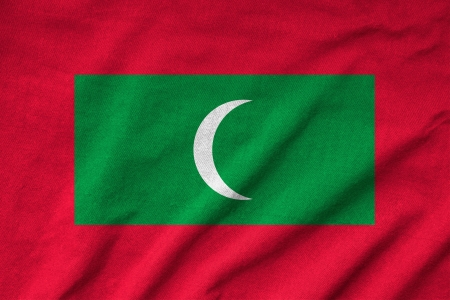 Ruffled Maldives Flag Stock Photo - 22832546