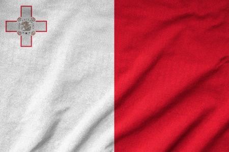 Ruffled Malta Flag photo