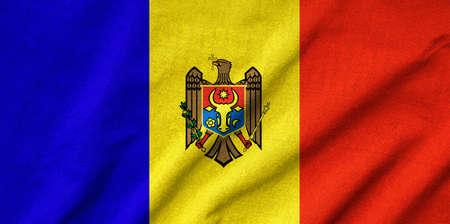 Ruffled Moldova Flag photo