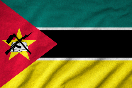 Ruffled Mozambique Flag Stock Photo - 22832859