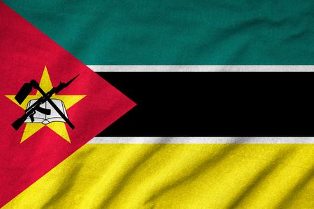 Ruffled Mozambique Flag Stock Photo - 22832859