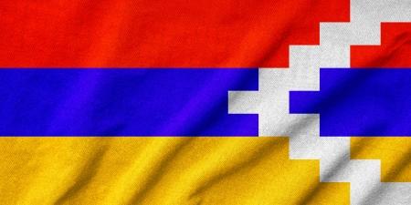 Ruffled Nagorno-Karabakh Republic Flag photo